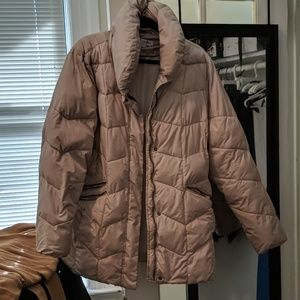 Quitted puffer coat jacket